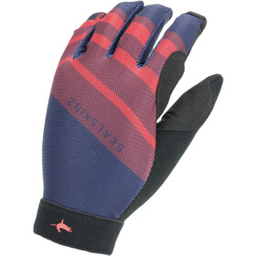 Sealskinz Solo Super Thin MTB-hanskat, navy blue/red/black